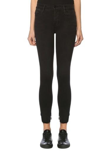 Frame Denim Yüksek Bel Slim Fit Pantolon Siyah